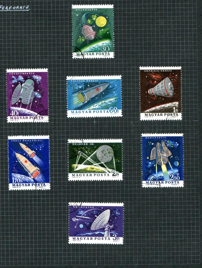 1964-HUNGARY-COSMOS-SPACE-SETS-UNMOUNTED-MINT-AND-VFU